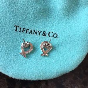 Tiffany & Co. Jewelry - Heart earrings with pouch